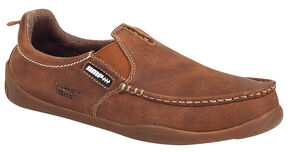 Georgia Cedar Falls Moc-Toe Slip-On Shoes, Tan, hi-res