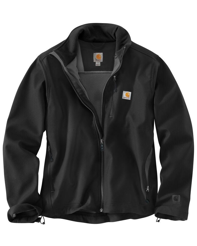 Carhartt Men's Pineville Softshell Work Jacket - Big & Tall, Black, hi-res