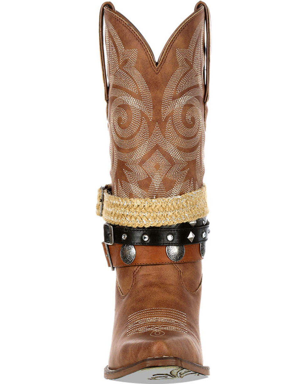 Crush by Durango Women's Accessory Western Boots - Snip Toe, Tan, hi-res