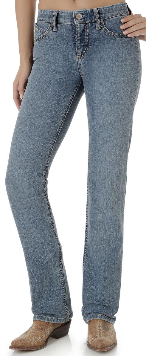Wrangler Women's QBaby Cool Vantage Light Wash Jeans, Indigo, hi-res