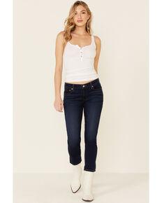 Levi's Women's Dark Wash Cobalt Obedience Boyfriend Crop Jeans  , Blue, hi-res