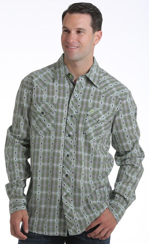 Garth Brooks Sevens by Cinch Men's Dobby Plaid Print Western Shirt, Multi, hi-res