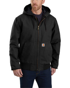Carhartt Men's Sandstone Lined M 130 Active Work Jacket , Black, hi-res
