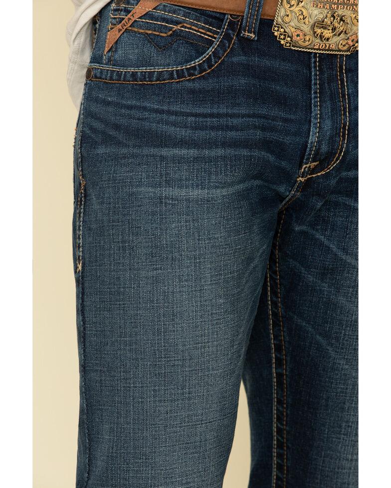 Ariat Men's M4 Travis Forest Dark Stretch Relaxed Bootcut Jeans , Indigo, hi-res