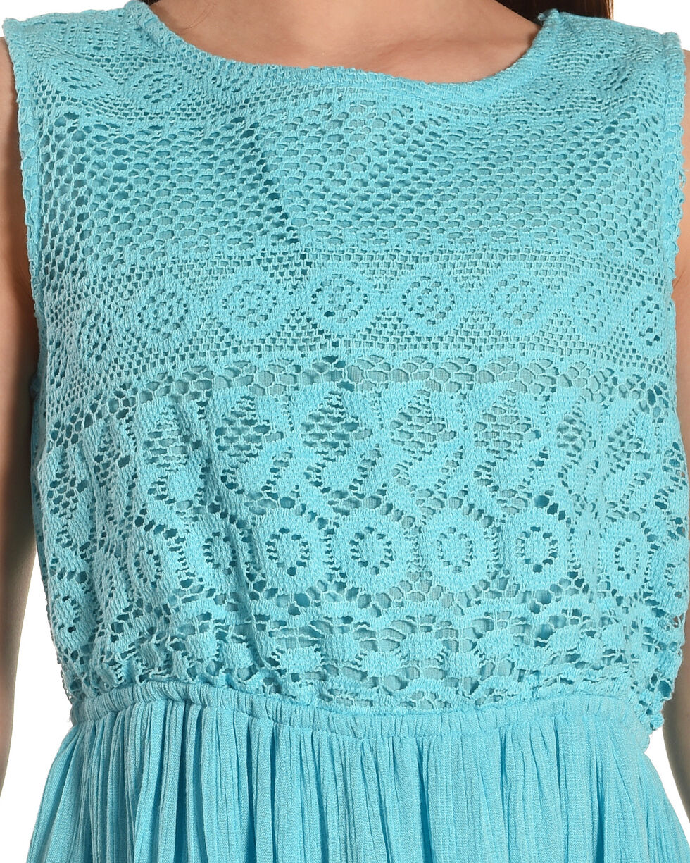 Silver Girls' Sea Sleeveless Lace Dress, Light Green, hi-res