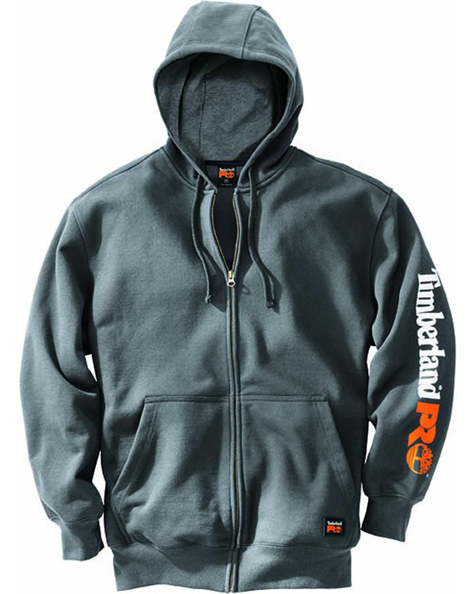Timberland Men's Pro Hood Honcho Full Zip Hoodie , Charcoal, hi-res