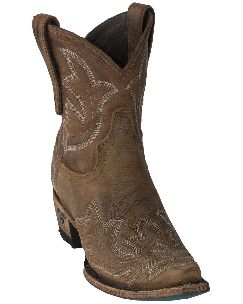 Lane Women's Brown Saratoga Booties - Snip Toe, Tan, hi-res