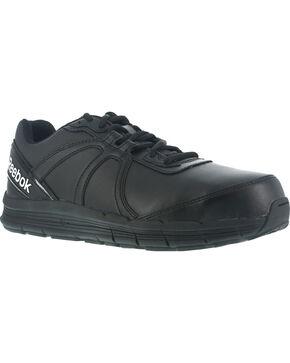 Reebok Women's Athletic Oxford Guide Work Shoes - Steel Toe , Black, hi-res