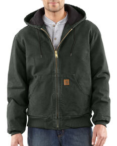Carhartt Men's Sandstone Duck Active Jacket, Moss, hi-res