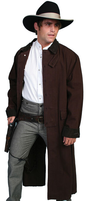 RangeWear by Scully Long Canvas Duster, Walnut, hi-res