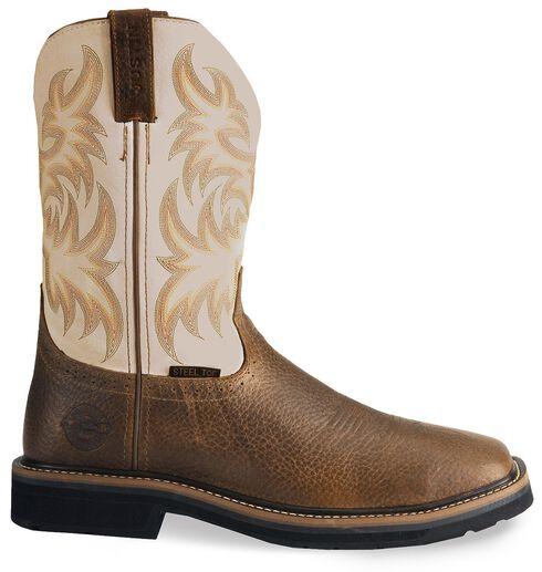 Justin Stampede Copper Western Work Boot - Steel Toe, Copper, hi-res