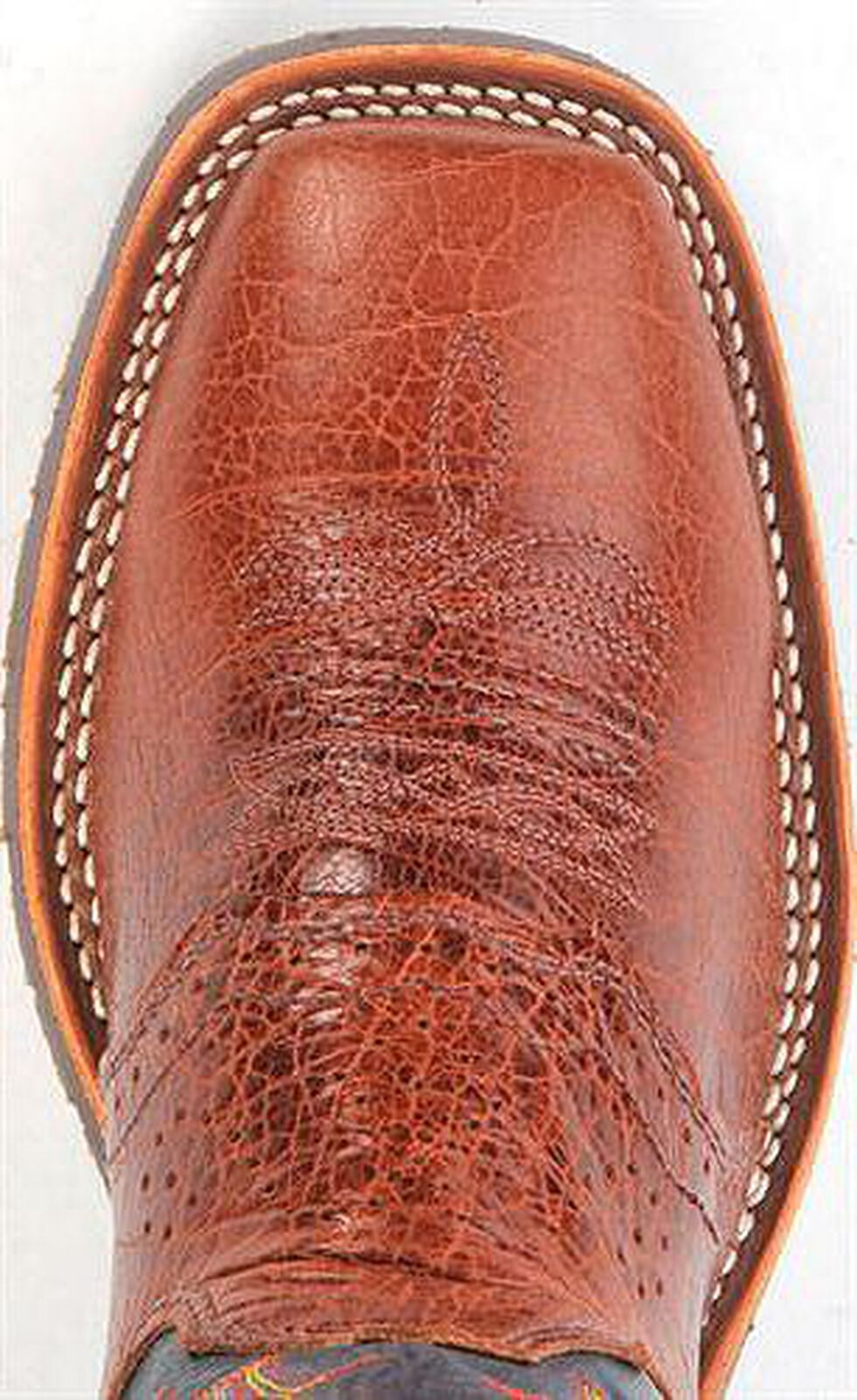 Double H Ice Western Work Boot - Square Toe, Brandy, hi-res