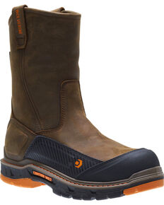 Wolverine Men's Overpass CarbonMAX Waterproof Wellington Boots - Composite Toe, Brown, hi-res