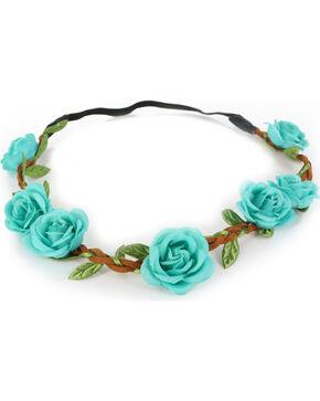 Shyanne Women's Turquoise Mini Rose Headband , Turquoise, hi-res