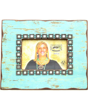 Western Moments 5x7 Distressed Frame, Turquoise, hi-res