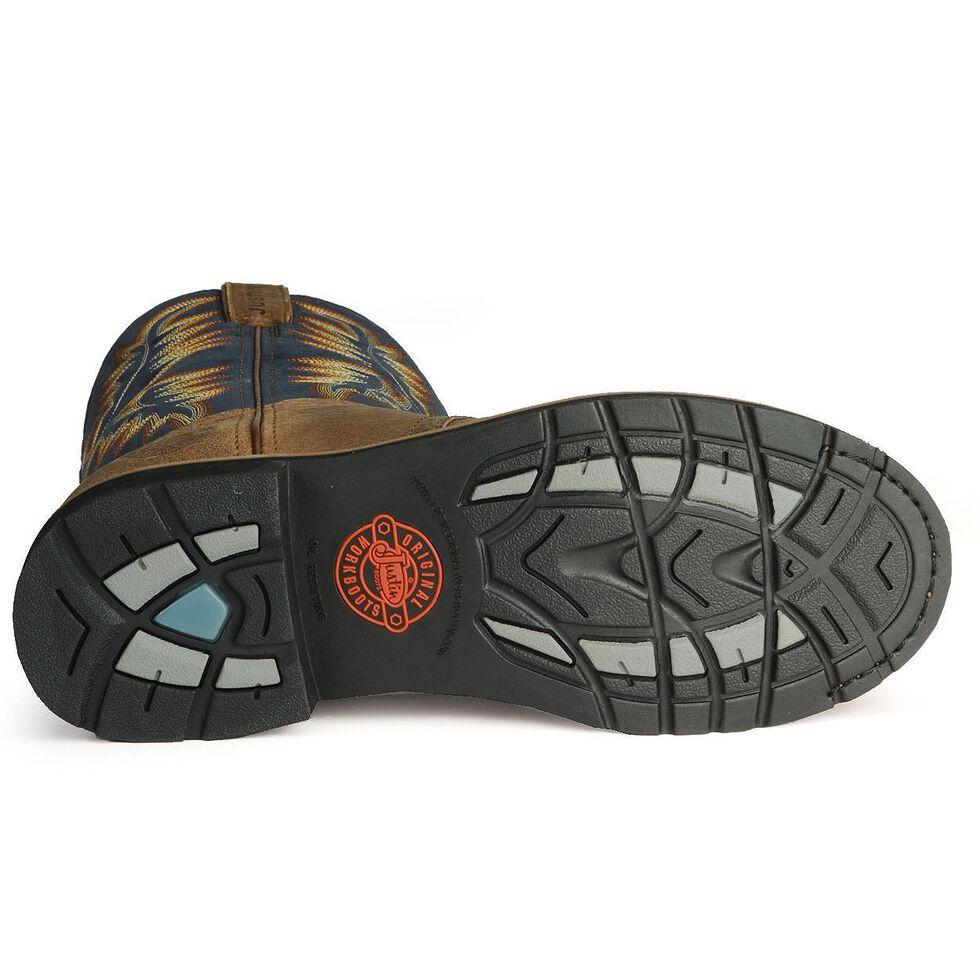 Justin Men's Stampede Superintendent Blue Work Boots - Steel Toe, Copper, hi-res