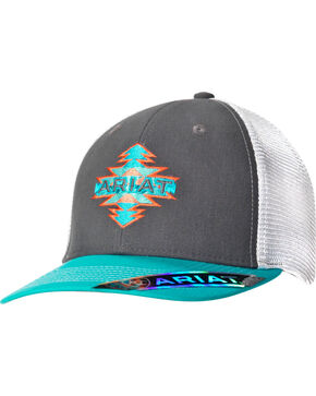 Ariat Women's Aztec Logo Cap, Grey, hi-res