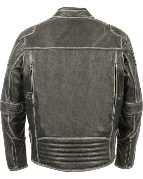 Milwaukee Leather Men's Vintage Distressed Triple Vented Jacket - 3X, Grey, hi-res