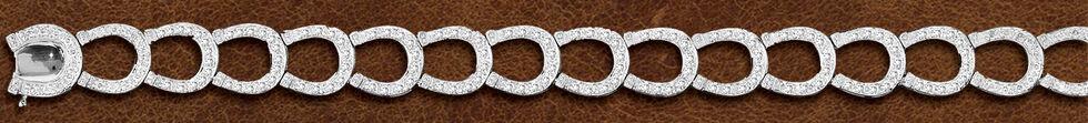 Kelly Herd Sterling Silver Horseshoe Bracelet , Silver, hi-res