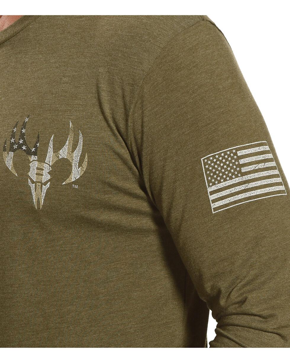 Buck Wear Men's Don't Mess Long Sleeve T-Shirt, Forest Green, hi-res