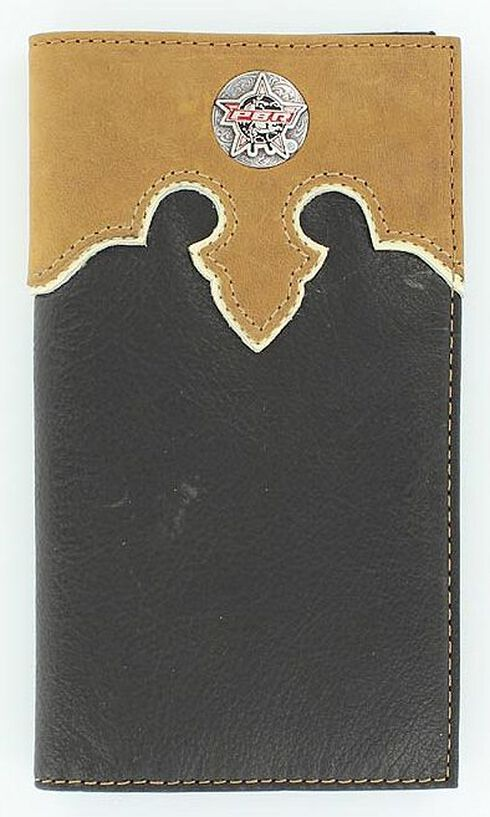 PBR Concho Leather Wallet, Black, hi-res