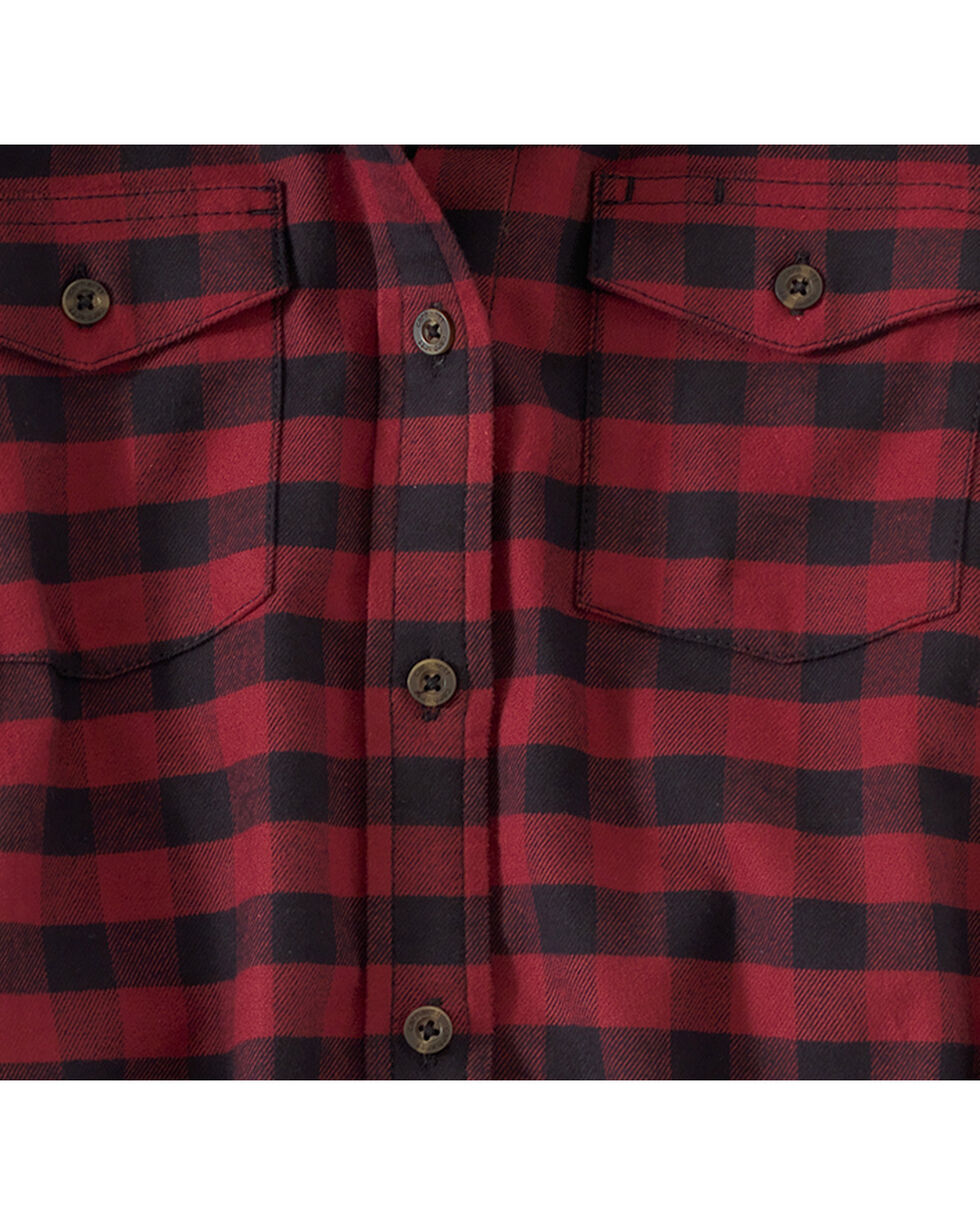 Carhartt Women's Dark Red Hamilton Flannel II Shirt , Red, hi-res