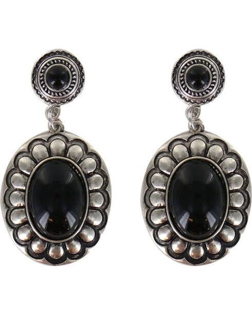 Shyanne Women's Floral Concho Earrings , Silver, hi-res