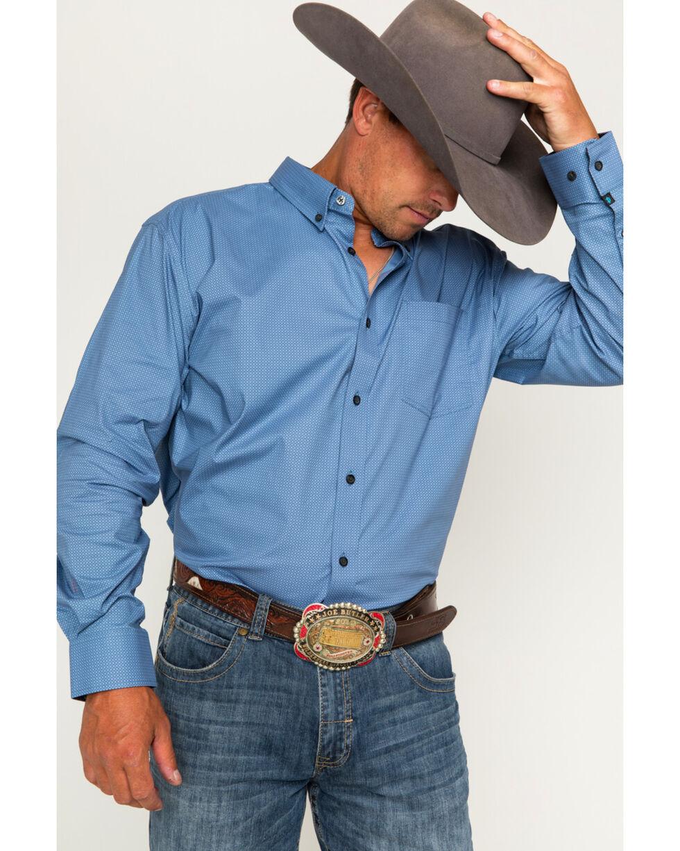 Cody James Men's Fiador Geo Print Long Sleeve Button Down Shirt, Blue, hi-res