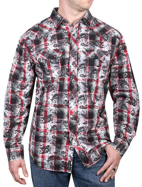 Moonshine Spirit Men's Spanish Trail Paisley Long Sleeve Shirt, Black, hi-res
