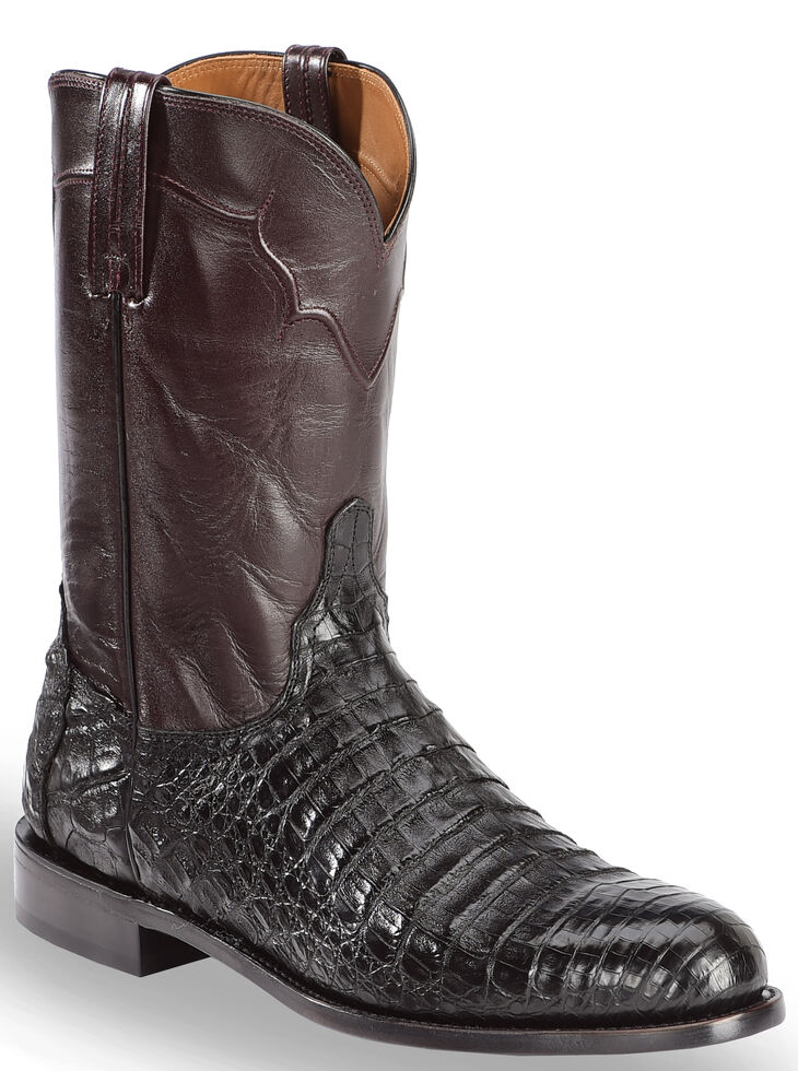 Lucchese Dustin (Black) Cowboy Boots Cheap Sale Discount Visa Payment Outlet Recommend lXifosQ5v