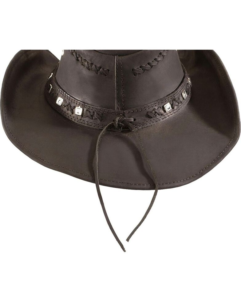 eb873074250c3 Bullhide Thunderstruck Leather Cowboy Hat