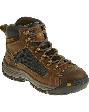 Caterpillar Men's Dark Beige Convex Mid Work Boots - Steel Toe , Light Brown, hi-res