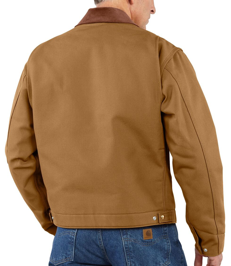 Carhartt Duck Detroit Blanket Lined Canvas Jacket - Big & Tall, Carhartt Brown, hi-res