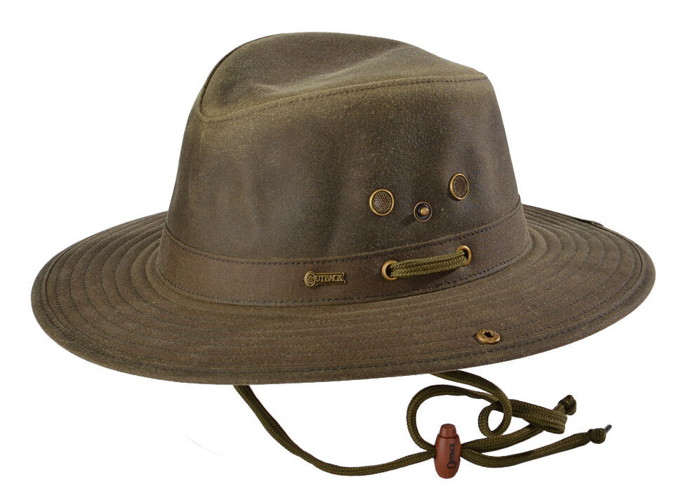 Outback Trading Co. Oilskin River Guide Hat, Sage, hi-res
