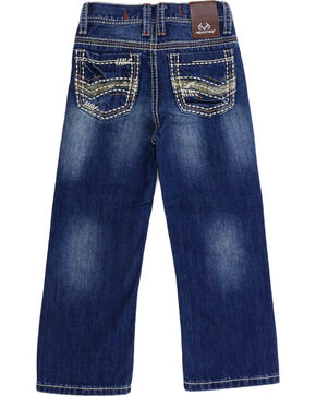 Realtree Little Boys' Camo Accented Jeans - Boot Cut , Blue, hi-res