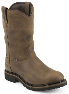Justin Original Waterproof & Insulated Work Boots - Round Toe, Brown, hi-res
