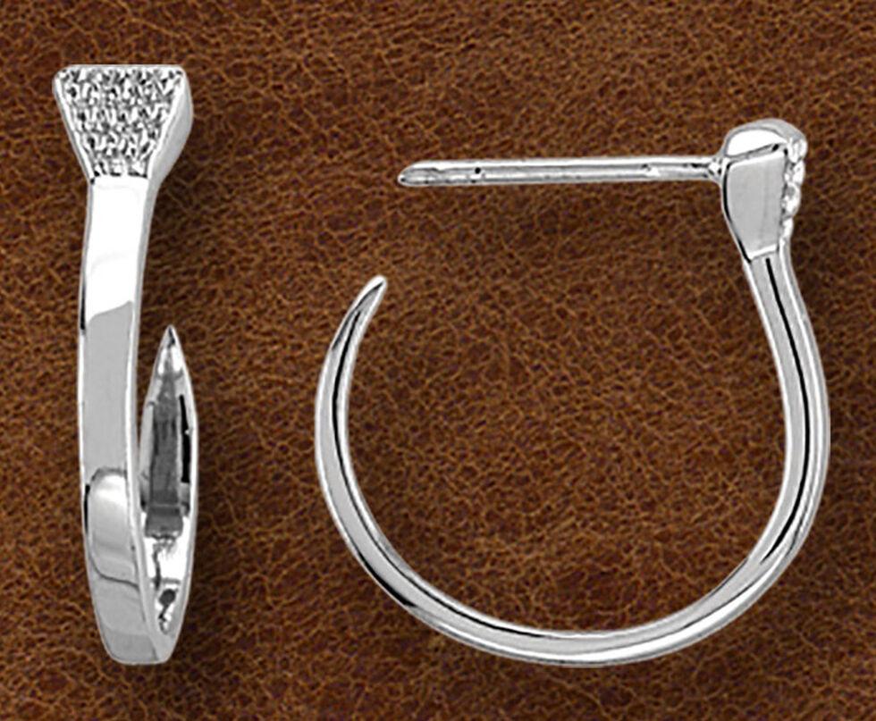 Kelly Herd Women's Sterling Silver Nail Hoop Earrings, Silver, hi-res