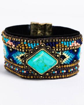 Idyllwind Women's Aztec Beaded Bracelet, Turquoise, hi-res