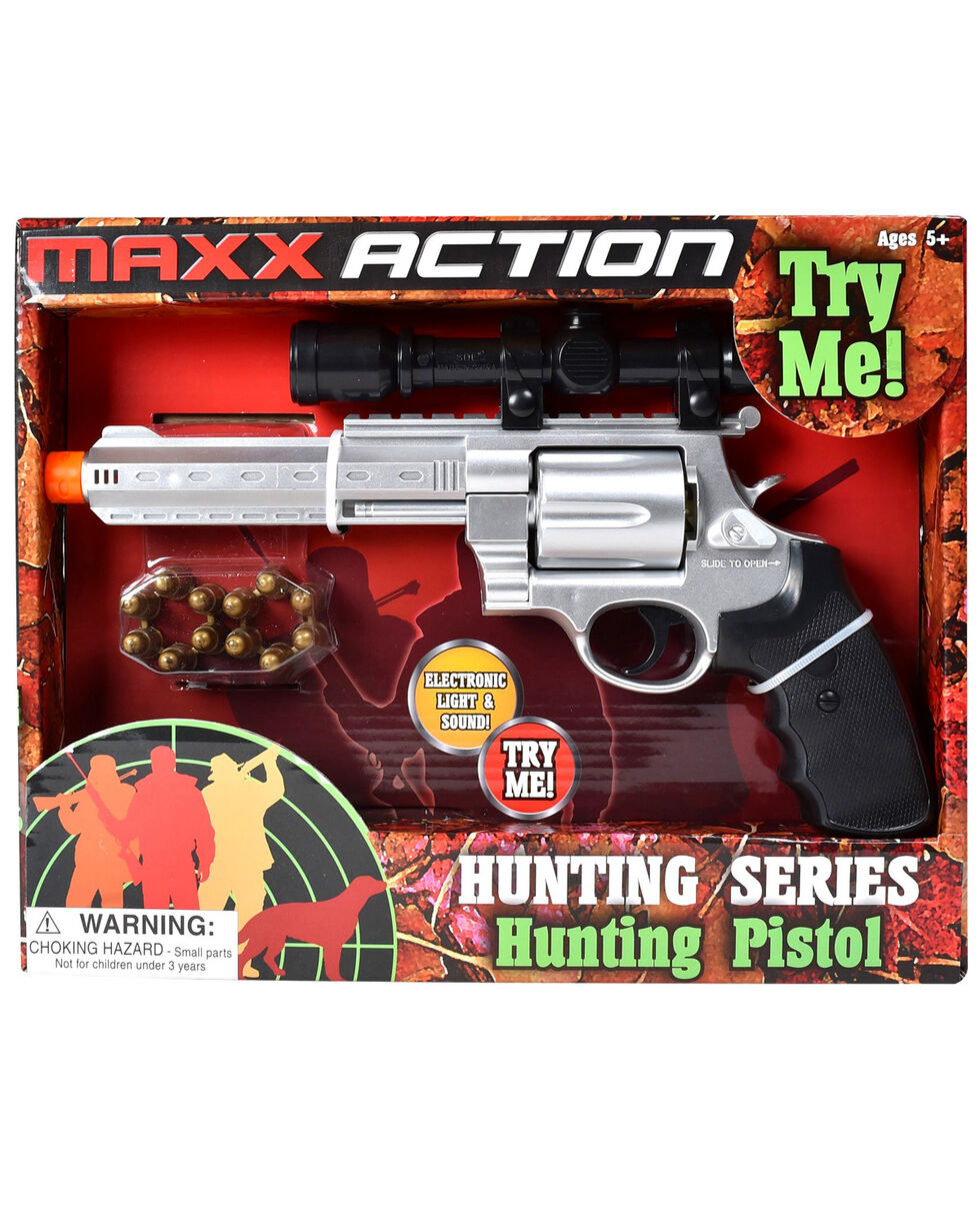 Maxx Action Hunting Series Pistol With Scope, Silver, hi-res