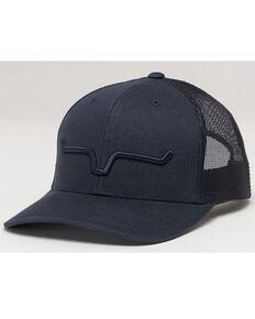 Kimes Ranch Men's Black Weekly Trucker Embroidered Logo Mesh-Back Ball Cap , Black, hi-res