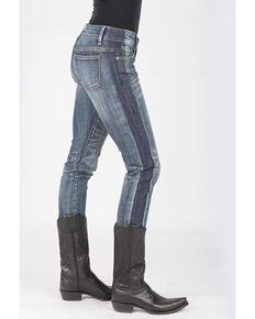 Stetson Women's 503 pixie Stix Fit Straight Leg Jeans, Blue, hi-res