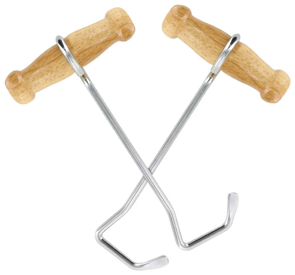"""BB Ranch 7.5"""" Boot Hooks, Silver, hi-res"""