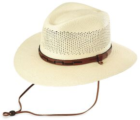 Stetson Airway UV Protection Straw Hat, Natural, hi-res