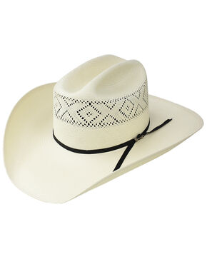 Stetson Men's Natural 10X Saddleman Straw Cowboy Hat , Natural, hi-res