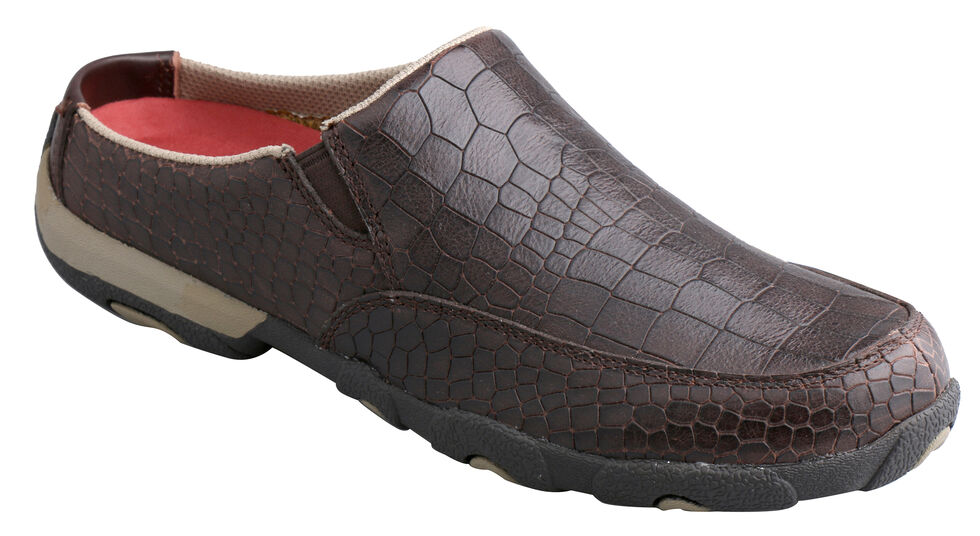 Twisted X Women's Dusty Brown Driving Mocs, Brown, hi-res