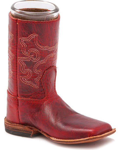 BB Ranch Leather Boot Shot Glass, Red, hi-res