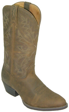 Twisted X Western Distressed Brown Cowboy Boots - Round Toe, Saddle Brown, hi-res