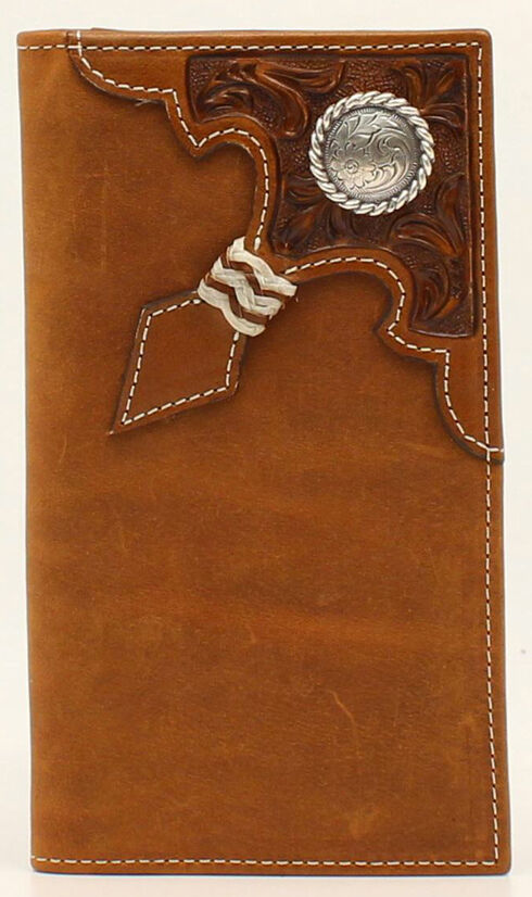 Ariat Rawhide Knot Concho Rodeo Wallet, Aged Bark, hi-res