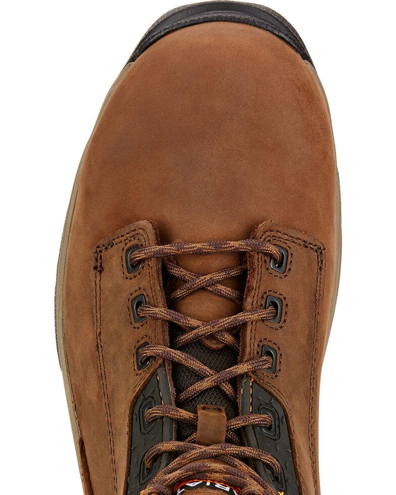 "Ariat Men's Mastergrip 6"" Waterproof Work Boots - Soft Toe, Brown, hi-res"