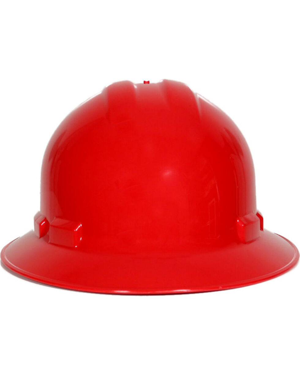 Radians Red Quartz Full Brim Hard Hats , Red, hi-res